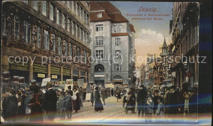 Leipzig Neumarkt u.Reichsstrasse waehrend der Messe Kat. Leipzig
