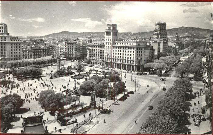 Barcelona Cataluna Plaza de Cataluna Kat. Barcelona