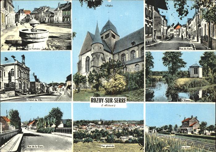 Rozoy sur Serre Hotel de Ville Rue de Paris  Kat. Rozoy sur Serre