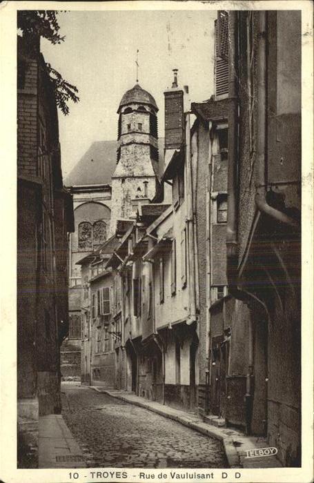 Troyes Aube Rue de Vauluisant Kat. Troyes