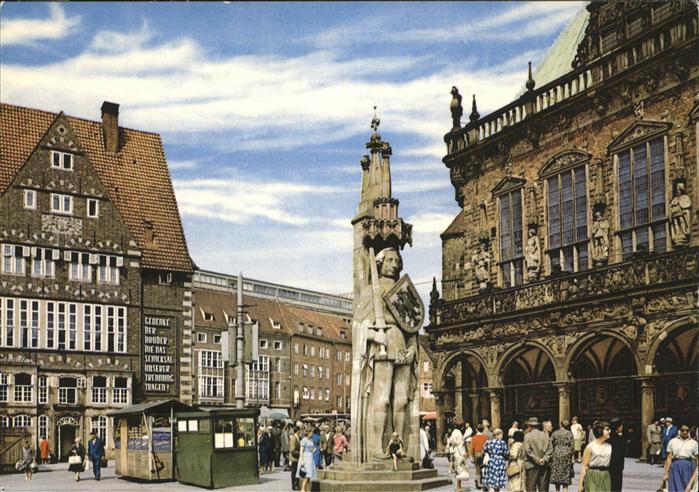 Bremen Rathaus Marktplatz Roland Kat. Bremen