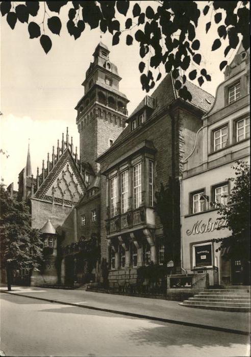 Zeitz Burgenland Rathaus mit gotischem Giebel Kat. Zeitz