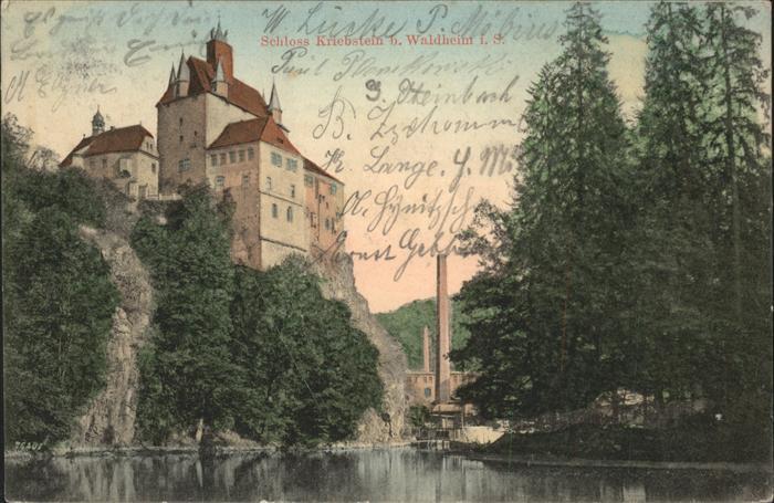 Waldheim Sachsen Schloss KRiebstein b. Waldheim Kat. Waldheim Sachsen