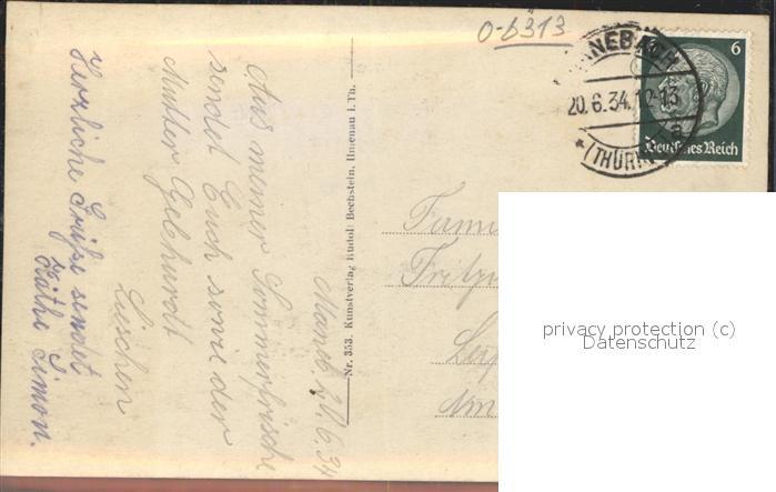 Manebach Grosser Hermannstein Kat. Ilmenau 1