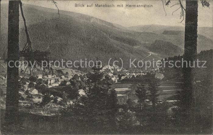 Manebach mit gr Hermannstein Kat. Ilmenau