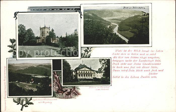 Ebersdorf Lobenstein Jagdschloss Weidmannsheil vom Heinrichstein Schloss Kat. Roehrnbach
