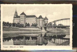 Torgau Schloss Hartenfels historische Bruecke Elbe Feldpost Kat. Torgau