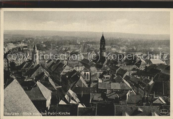 Bautzen Blick von der Petri Kirche Feldpost Kat. Bautzen