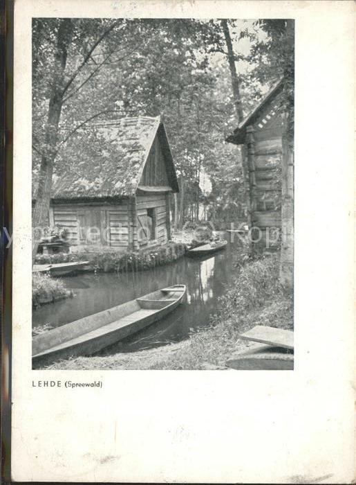 Lehde Dorfstrasse Wasserstrasse Kahn Kat. Luebbenau