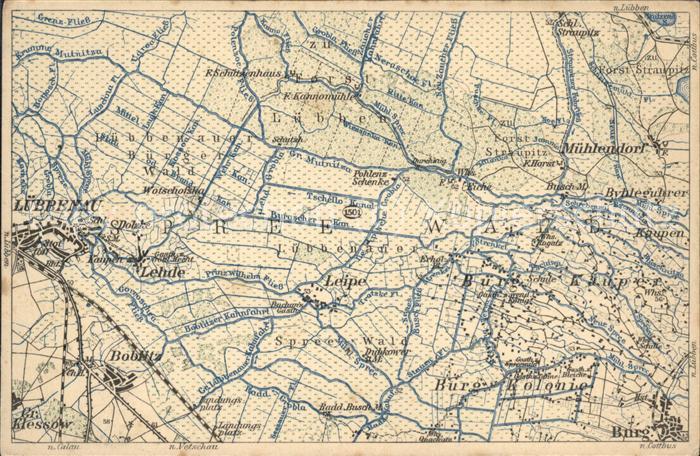 Karte Spreewald Lubbenau.Luebbenau Spreewald Wona Karte Vom Spreewald Nr 1501 Kat Luebbenau