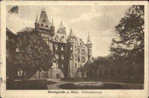 Wernigerode Harz Schlossterrasse Kat. Wernigerode