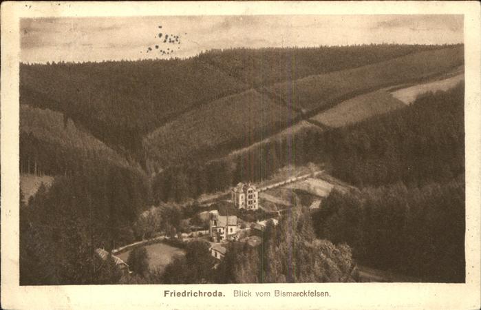 Friedrichroda vom Bismarckfelsen Kat. Friedrichroda
