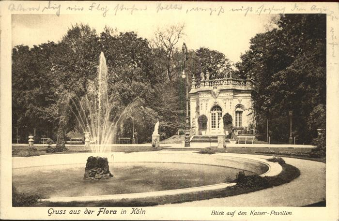 Koeln rhein flora kaiser pavillon kat. koeln nr. kk45140 oldthing