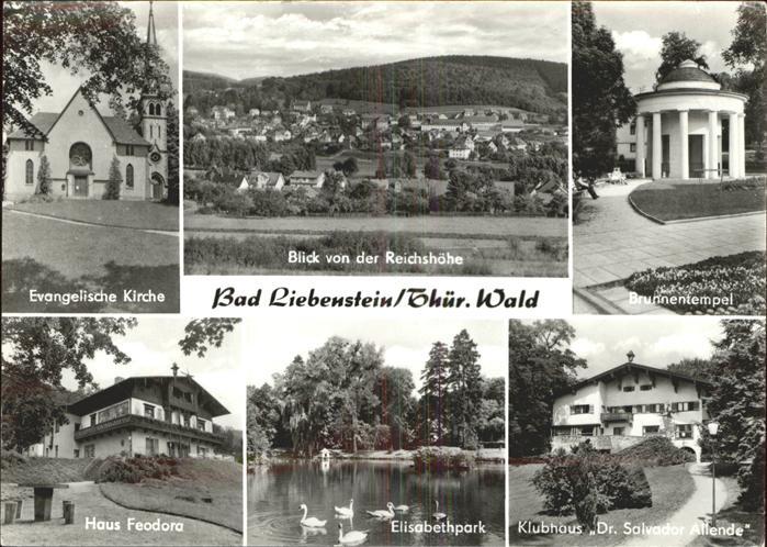 Bad Liebenstein Brunnentempel Evang. Kirche Haus Feodora Elisabethpark Kat. Bad Liebenstein