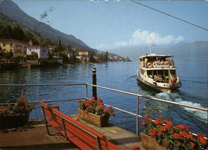 Magadino Partie am Landungsplatz Faehrschiff Lago Maggiore Kat. Magadino