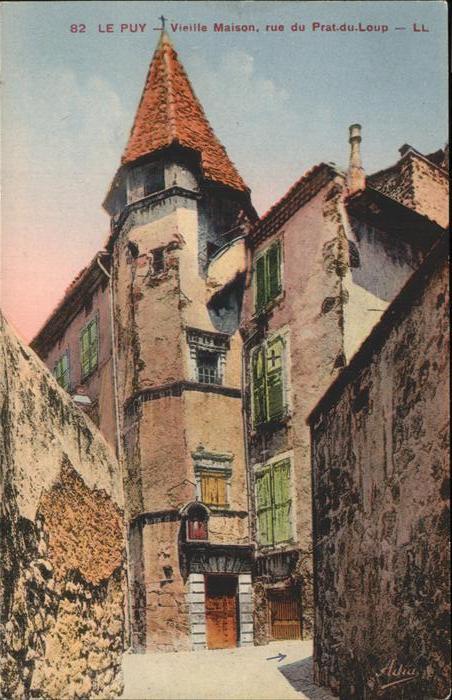 Le Puy en Velay Vieille Maison Rue du Prat du Loup Kat. Le Puy en Velay