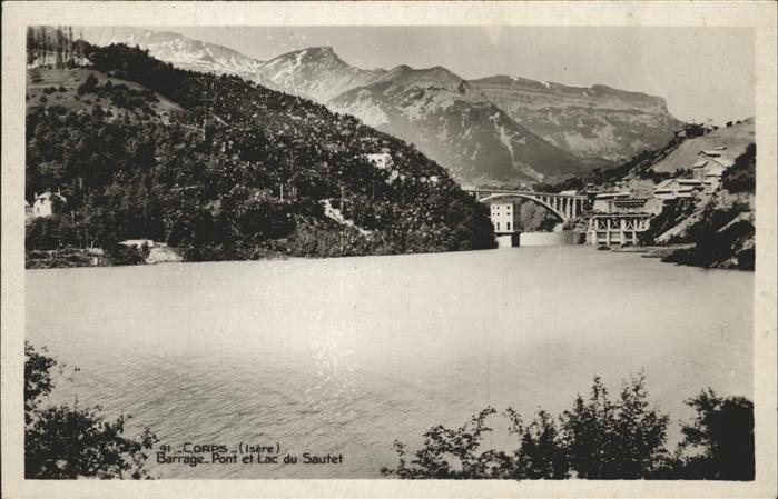 Corps Barrage Pont et Lac du Sautet Kat. Corps