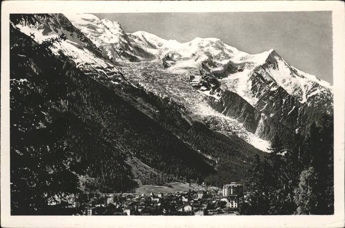 Chamonix mit Mont Blanc Kat. Chamonix Mont Blanc