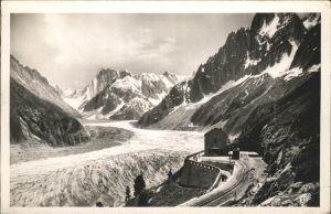 Chamonix La Mer de Glace et Gare du Montenvers Kat. Chamonix Mont Blanc