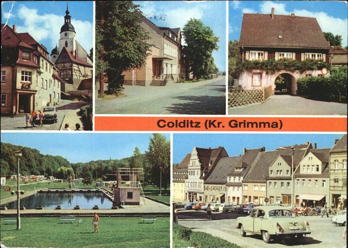Colditz Waldbad u.Markt Kat. Colditz