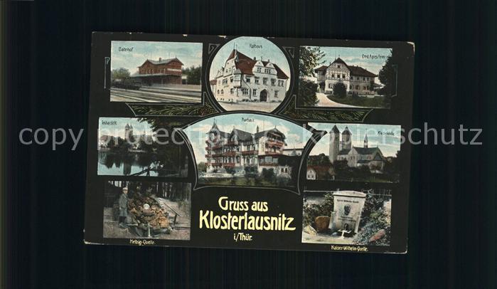 Bad Klosterlausnitz Bahnhof Rathaus Ernst Agnes Heim Kat. Bad Klosterlausnitz