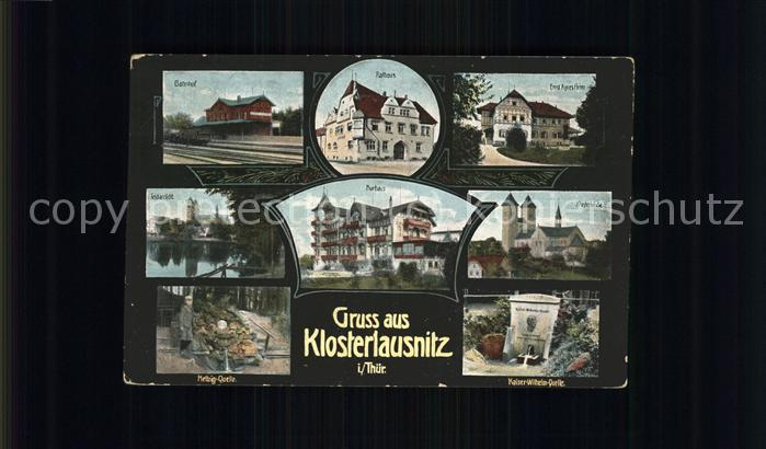 Bad Klosterlausnitz Bahnhof Rathaus Klosterkirche Kurhaus Kat. Bad Klosterlausnitz