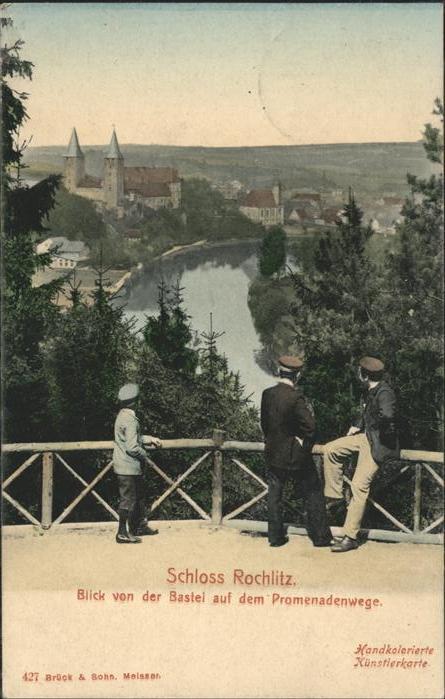 Rochlitz Sachsen Blick von der Bastei Promenadenweg Kat. Rochlitz