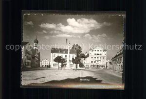 Grafing Muenchen Marktplatz mit Volksbank / Grafing b.Muenchen /Ebersberg LKR