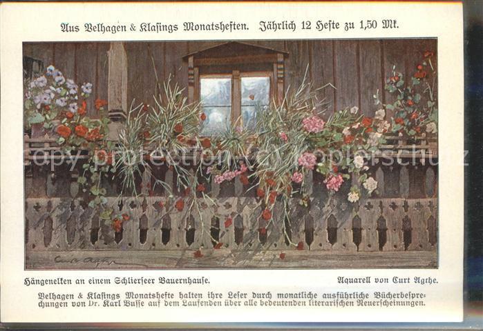 Schliersee Blumen an einem Bauernhaus Kat. Schliersee