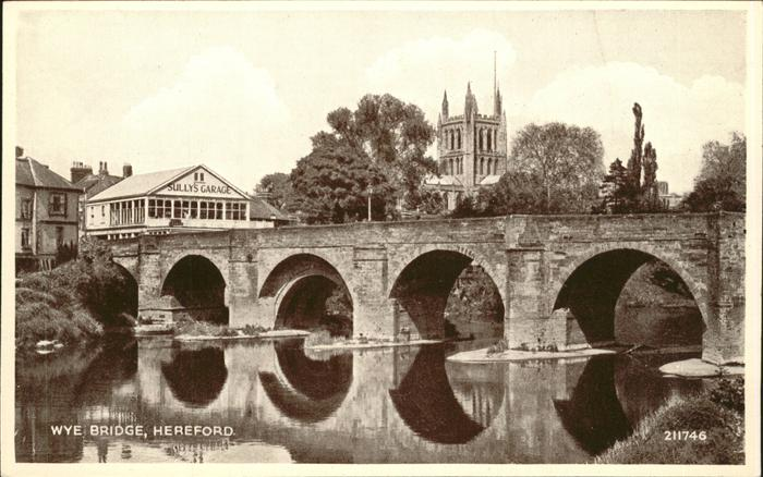 Herefordshire County of Wye Bridge Kat. Herefordshire County of