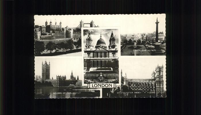 London Westminster Abbey Trafalger Square Kat. City of London