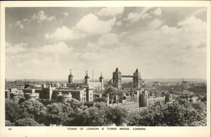 London Tower of London Bridge Kat. City of London