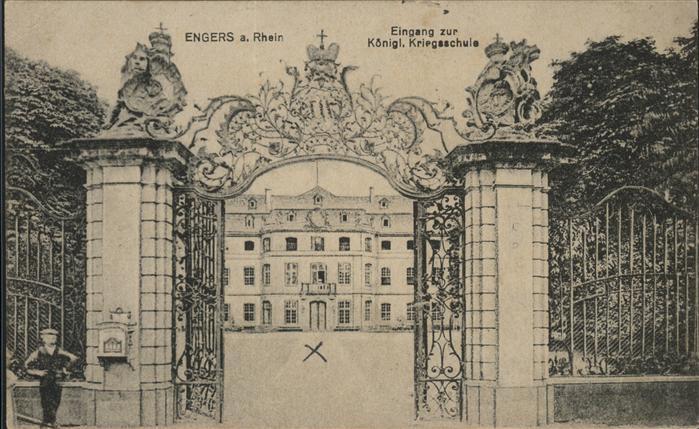 Engers Koenigliche Kriegsschule Kat. Neuwied