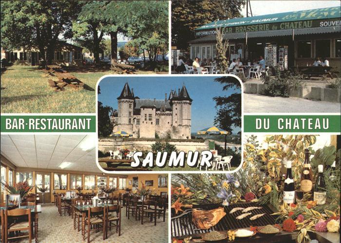 Saumur Bar Restaurant du Chateau Terrasse Kat. Saumur