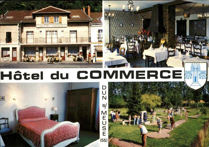 Dun sur Meuse Hotel du Commerce Restaurant Minigolf Kat. Dun sur Meuse
