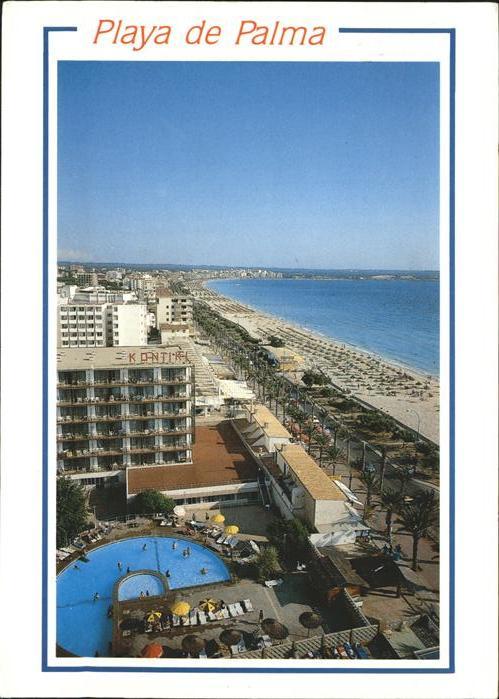 Ak ansichtskarte playa de palma mallorca fliegeraufnahme for Piscina palma de mallorca