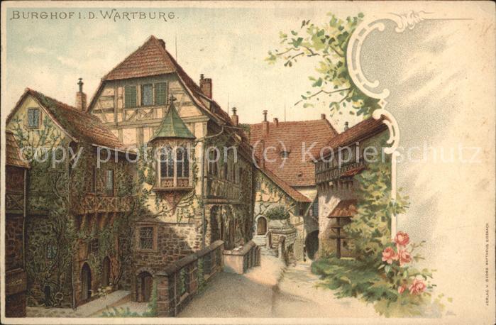Wartburg Eisenach Wartburg Burghof Kat. Eisenach