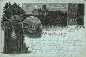 Wartburg Eisenach Wartburg bei Nacht Drachenschlucht Marienthal Hohe Sonne Kat. Eisenach