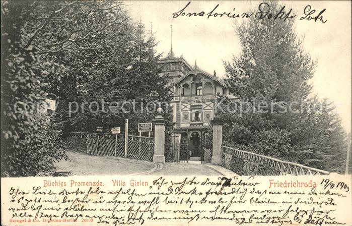 Friedrichroda Villa Gielen Kat. Friedrichroda