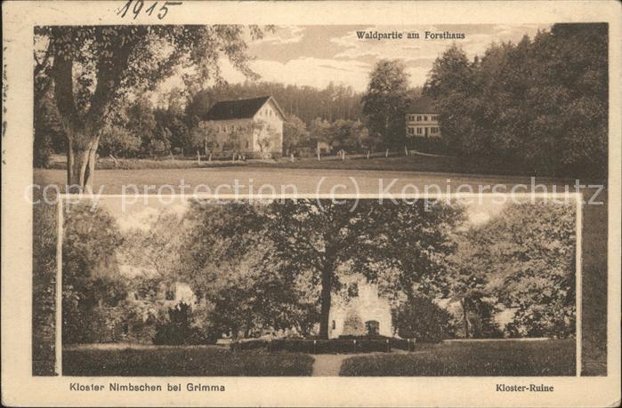 Grimma Kloster Nimbschen Ruine Forsthaus Kat. Grimma Nr. wx73966 ...