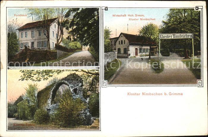 Grimma Kloster Nimbschen Ruine Forsthaus Wirtschaft Kat. Grimma Nr ...