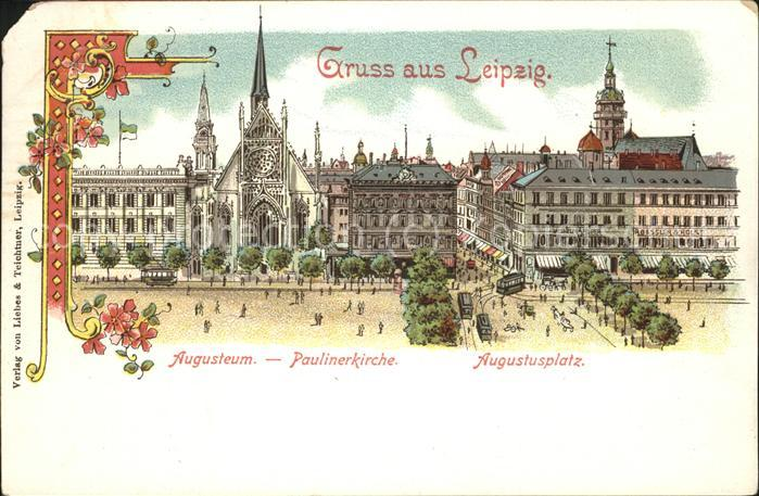 Leipzig Augusteum Paulinerkirche Augustusplatz Kat. Leipzig