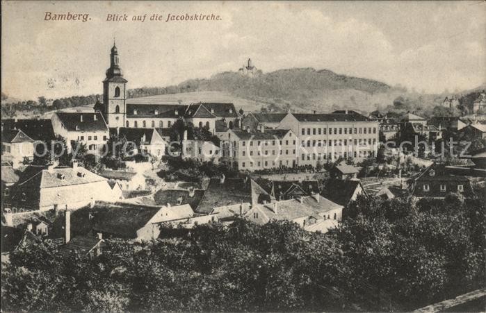 Bamberg mit Blick auf die Jacobskirche Kat. Bamberg
