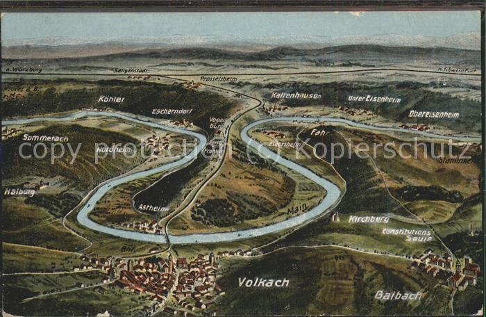 Volkach mit umliegenden Orten Kat. Volkach