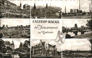 Castrop Rauxel Muensterplatz Zeche Erin Badeanstalt Gondelteich Rathaus Rennbahn Kat. Castrop Rauxel