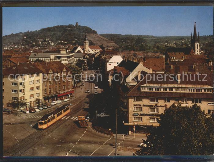 Durlach Pfinztalstrasse mit Turmberg Kat. Karlsruhe