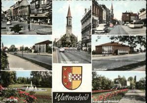 Wattenscheid Oststr Friedenskirche Hochstr Stadthalle Saarlandstr Stadtgarten Ehrenmal Kat. Bochum