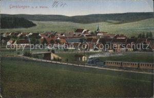 Gerstungen Panorama mit Eisenbahn Kat. Gerstungen