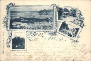 Meiningen Thueringen Panorama Schloss Landsberg  Kat. Meiningen