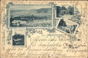 Meiningen Thueringen Schloss Landsberg Panorama  Kat. Meiningen